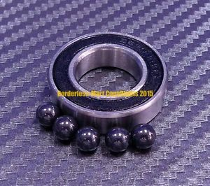 high temperature [QTY 1] 6901-2RS (12x24x6 mm) Hybrid Ceramic Rubber Ball Bearing Bearings 6901RS