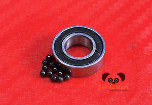 "high temperature 5pc R4-2RS (1/4"" x 5/8"" x 0.196"") Hybrid CERAMIC Ball Bearing Bearings R4RS BLK"