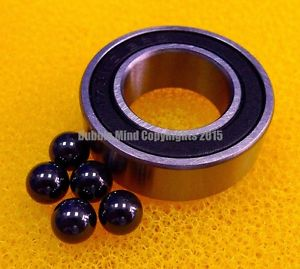 high temperature 4PCS 63802-2RS (15x24x7 mm) Hybrid Ceramic Chrome Metal Bearing Bearings 63802RS