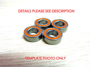 high temperature 4pcs 4x7x2.5 Hybrid Ceramic Stainless Bearing Oiled S74C 2OS A7