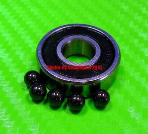 high temperature [QTY 4] (7x19x6 mm) S607-2RS Stainless HYBRID CERAMIC Ball Bearing Bearings BLK