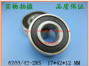high temperature (2) 6203/42-RS 2RS Deep Groove Ball Bearing Non standard 17x42x12 6203Z 17*42*12