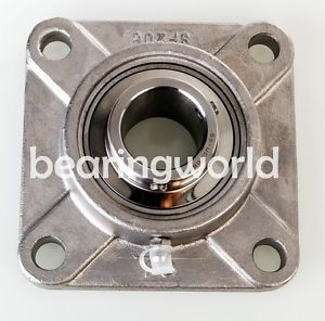 """high temperature !!  SUCSF208-24  1-1/2"""" Stainless Steel 4-Bolt Flange Bearing  UCF208-24"""