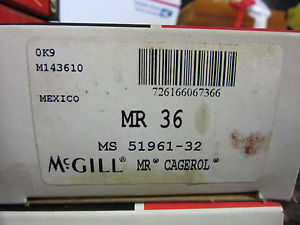 "high temperature McGill MR36 Cagerol Bearing 2-1/4"" ID X 3"" OD X 1-3/4"" Width !! Free Shipping"