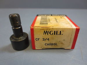 "high temperature 1 Nib McGill CF-3/4 Cam Follower Bearing RD .7500"" RW .5000"" Stud Dia .3750"" New"