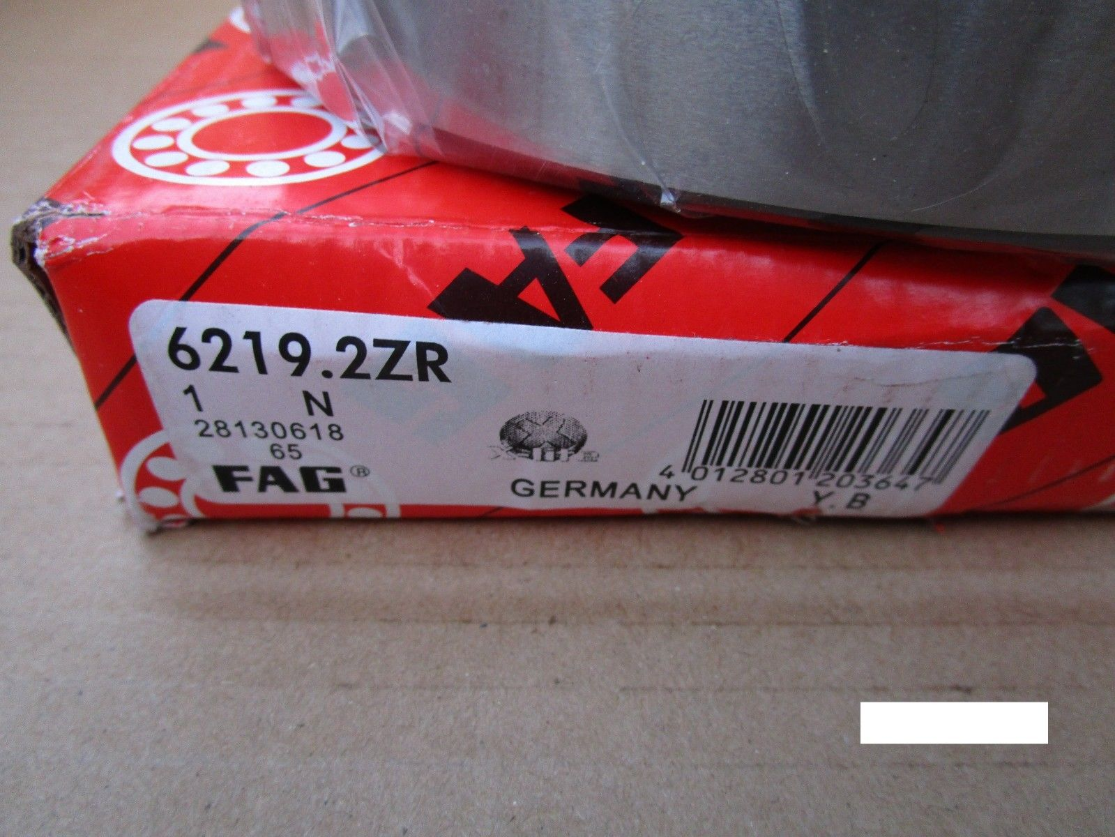high temperature Fag 6219 2ZR, Single Row Ball Bearing(=2 SKF,NSK ,NTN,Timken/Fafnir 219,SNR)