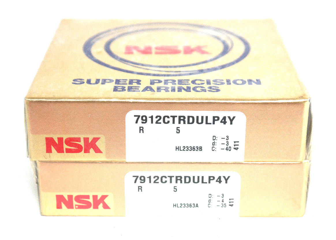 high temperature SET OF 2  NSK 7912CTRDULP4Y SUPER PRECISION BALL BEARINGS