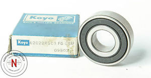 high temperature KOYO 6202-2RS, FIT C3, DOUBLE SEAL BALL BEARING, 15mm x 35mm x 11mm