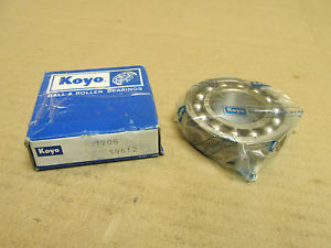high temperature NIB KOYO 1206 SELF ALIGNING BALL BEARING 1206 30x62x16 mm