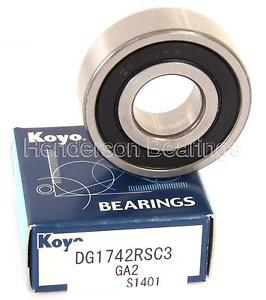 high temperature DG1742RSC3 Ball Bearing Genuine Koyo 17x42x13mm