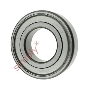 high temperature KOYO 62072Z Metal Shielded Deep Groove Ball Bearing 35x72x17mm