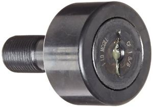 high temperature McGill CF1 5/8 Cam Follower, Standard Stud, Unsealed/Slotted, Inch, Steel,