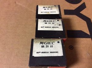 high temperature 3-McGILL bearings#MR 20 SS ,Free shipping lower 48, 30 day warranty!