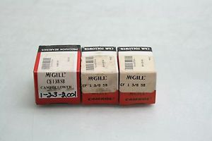 "high temperature 3 New McGill CF-1-3/8-SB Cam Follower Bearings 1-3/8"" Diameter x 1-1/4 Long"