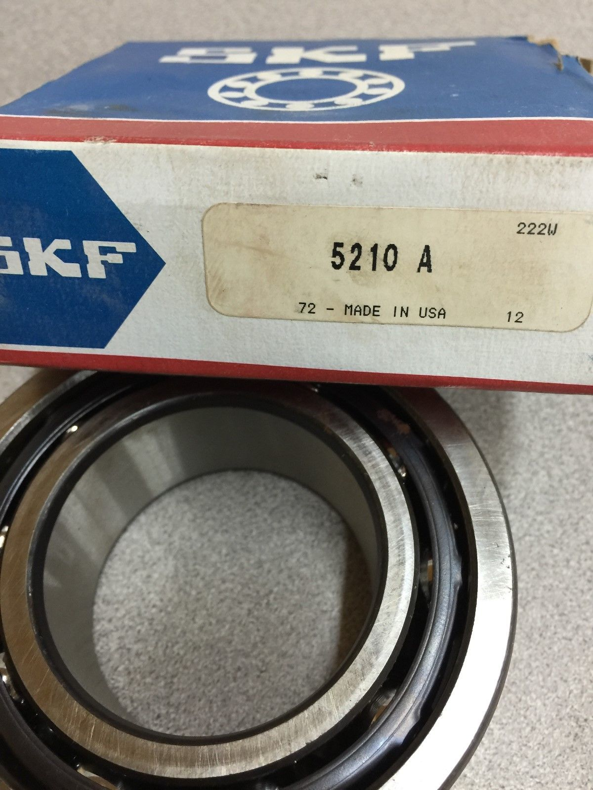 high temperature  IN BOX SKF DOUBLE ROW BALL BEARING 5210 A
