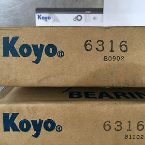 high temperature Koyo 6316 Metric Deep Groove Ball Bearing Boxed
