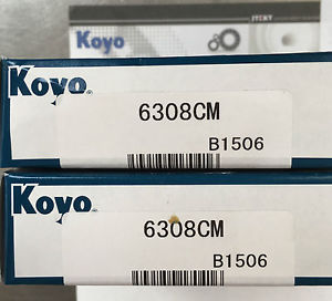 high temperature Koyo 6308CM Metric Deep Groove Ball Bearing Boxed
