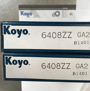 high temperature Koyo 6408ZZ Metric Deep Groove Ball Bearing Boxed