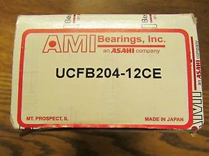 high temperature AMI ASAHI 3-Bolt Flange Bearing UCFB204 12CE
