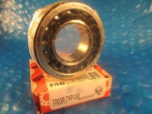 high temperature FAG 7205-B-TVP-UO,Single Row Angular Contact Bearing 7205B,7205 Made in Germany