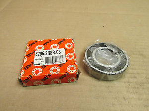 high temperature NIB FAG 6206 2RSR C3 BEARING DOUBLE RUBBER SHIELD 62062RS R 30x62x16 mm