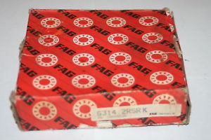 high temperature FAG 6314-K 2RSR Sealed Deep Groove Tapered Bore Bearing   *  *