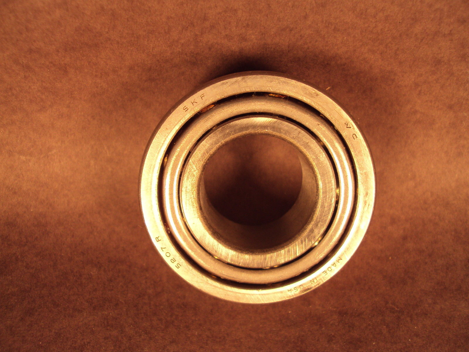 high temperature SKF 5207 R, Double Row Ball Bearing, minor rust discoloration