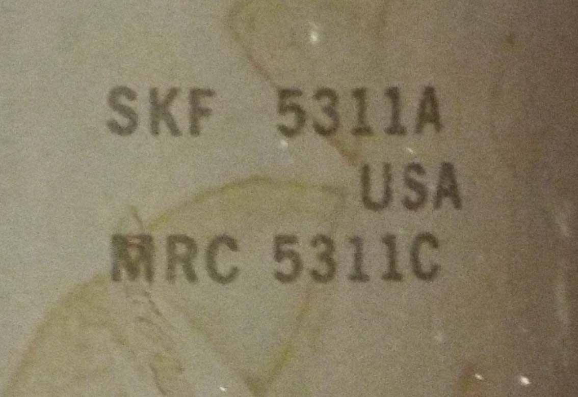 high temperature 1  SKF 5311A (MRC 5311C) DOUBLE ROW BALL BEARING ***MAKE OFFER***