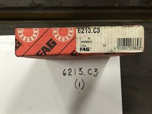 high temperature (1) FAG 6213.C3 Bearings New in Box