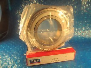 high temperature SKF 6211 2Z JEM, Single Row Radial Bearing (=2 Fafnir 211KDD, NSK, FAG, NTN ZZ)