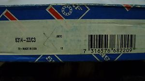 high temperature SKF / FAG – 70 x 150 x 35 SHIELDED DEEP GROOVE ROLLER BEARING 6314-2Z/C3 *NOS*