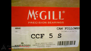 high temperature MCGILL CCF 5 S CAM FOLLOWER  5 INCH OUT SIDE ROLLER DIAMETER,  #173438