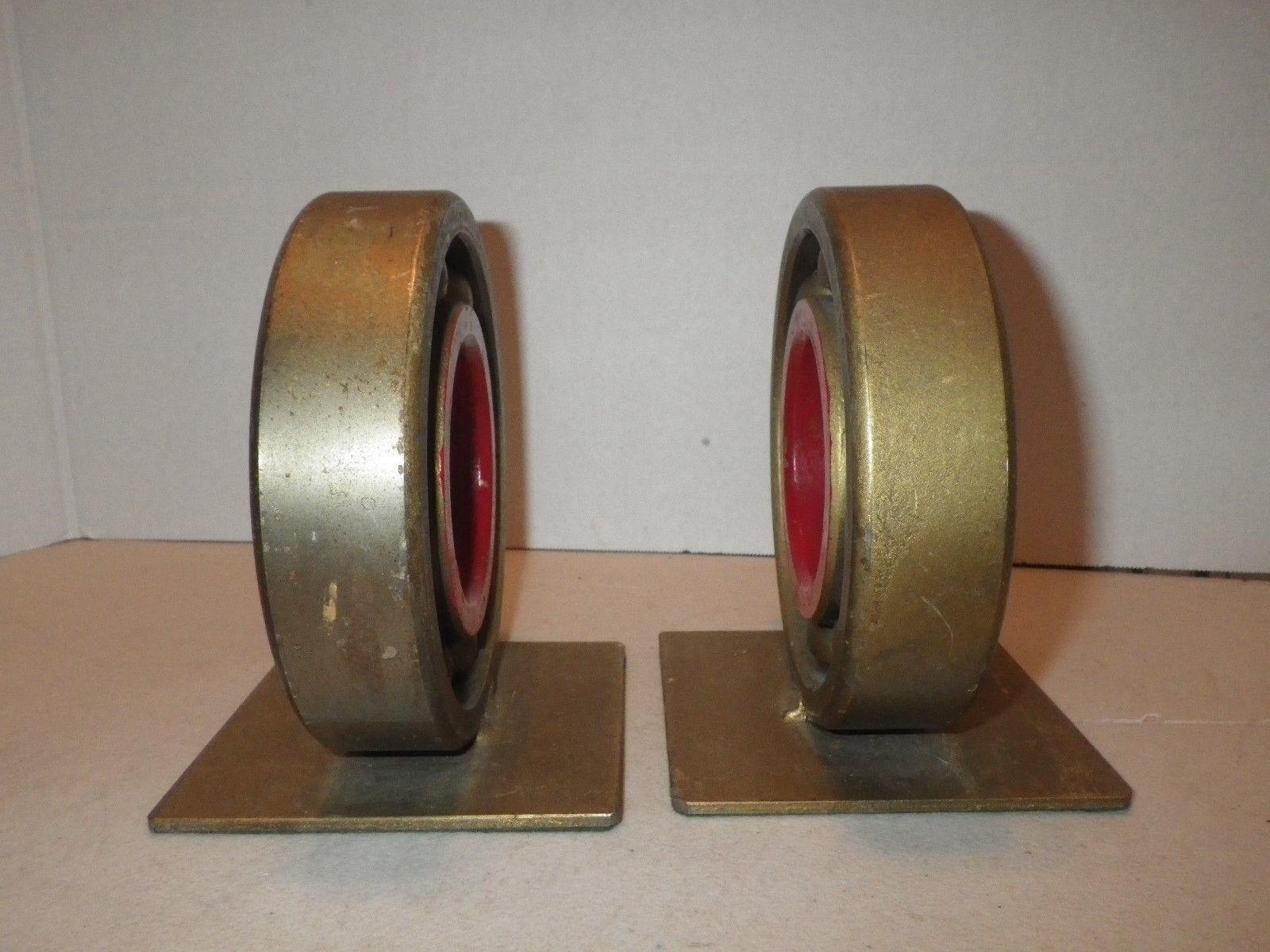 high temperature Large AC SKF Ball Bearing Bookends – Possibly One of a Kind  – Man Cave Item