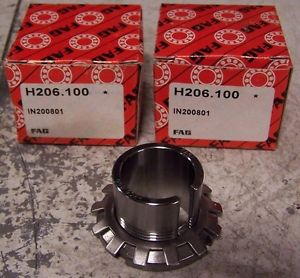 """high temperature (2)  FAG H206-100 ADAPTER SLEEVE 1"""" ID LOT OF 2"""