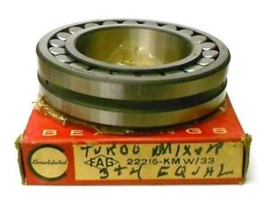"""high temperature CONSOLIDATED BEARING 22215HLASK, FAG #22215-KM W/33, ~5 1/8"""" OD, 3"""" ID, 1 1/4"""" T"""