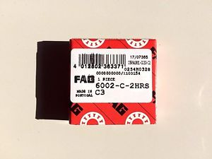 high temperature 6002 2RS C3 FAG BRAND –  IN BOX – FREE SHIPPING FOR 5 OR MORE PCS.