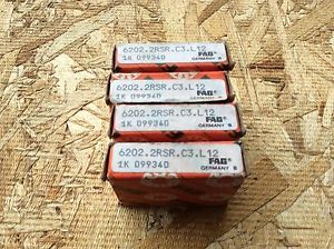 high temperature 4-FAG-Bearings, Cat#6202.2RSR.C3.L12 ,comes w/30day warranty, free shipping