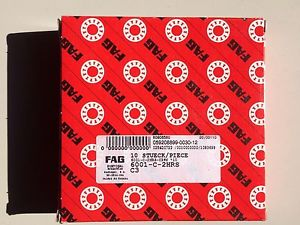 high temperature 6001 2RS C3 FAG BRAND –  IN BOX – FREE SHIPPING FOR 5 OR MORE PIECES