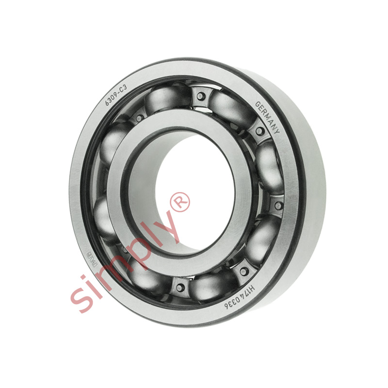 high temperature FAG 6309C3 Open Deep Groove Ball Bearing 45x100x25mm