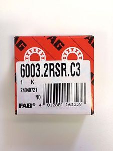high temperature 6003 2RS C3 FAG BRAND –  IN BOX – FREE SHIPPING FOR 5 OR MORE PIECES