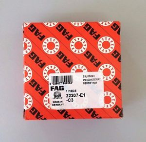 high temperature 22207-E1-C3 – FAG BRAND –  IN BOX – FREE SHIPPING – SPHERICAL ROLLER BEARING
