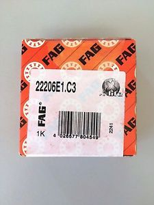 high temperature 22206-E1-C3 – FAG BRAND –  IN BOX – FREE SHIPPING – SPHERICAL ROLLER BEARING