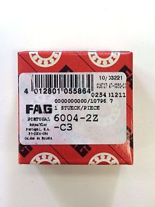 high temperature 6004 2Z C3 (6004 ZZ C3) FAG BRAND –  IN BOX – FREE SHIPPING FOR 5 OR MORE PCS