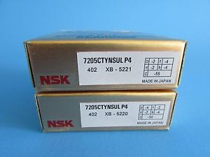 high temperature NSK7205CTYNSUL P4 ABEC7 Super Precision Contact Spindle Bearing (Matched Pair)
