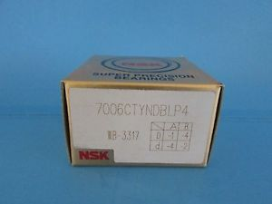 high temperature Set of Two NSK7006CTYNDBL P4 ABEC-7 Super Precision Spindle Bearing.