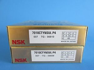 high temperature NSK7010CTYNSUL P4 ABEC-7 Super Precision Angular Contact Bearing. Matched Pair