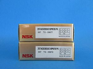 high temperature NSK25TAC62BSUC10PN7B P4 ABEC-7 High Precision Ball Screw Bearing. Matched Pair