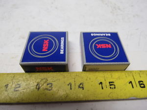 high temperature NSK 6903zz Metal Shielded Single Row Ball Bearing Lot of 2
