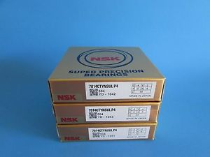 high temperature NSK7014CTYNSUL P4 ABEC7 Super Precision Spindle Bearing (Matched Set of Three)