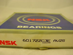 high temperature NSK 6017ZZC3E BALL BEARING SINGLE ROW DEEP GROOVE SHIELDED 85X130X22MM